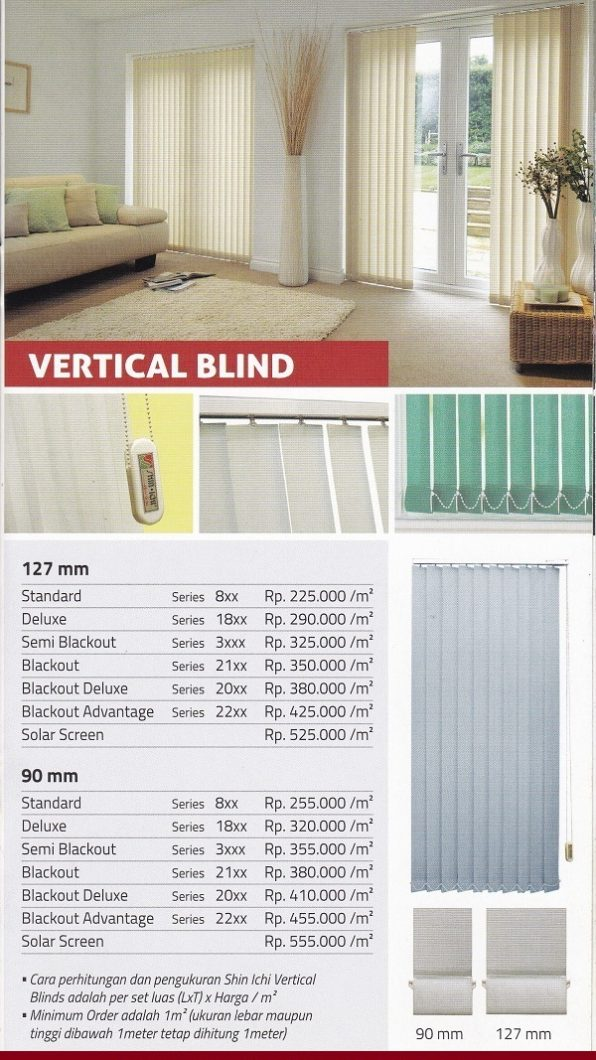 Harga Vertical Blinds Shinichi